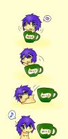 Chibi Milo and the Cup by LittleScarlet-XD