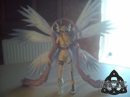 Digimon Angewomon Papercraft Complete Front by HellswordPapercraft