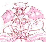 Sketch - Devil by Claymore32