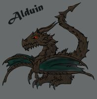 Chibified Alduin The World Eater by DracorianAmanda
