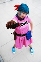 Bulma Cosplay First Outfit by Pi-Cosplay