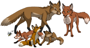 Foxes by RukiFox