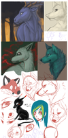Sketchdump may-june 2011 by SmidgeFish