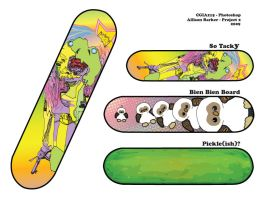 Illustrator Skateboard Designs by crabplant