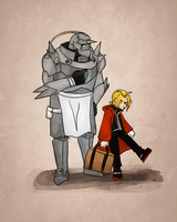 FMA - Elric Bros Classic by schellibie