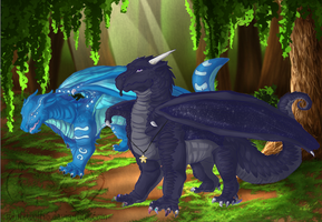 Aquatic and Void - Best Friends by Spirit-The-Artist