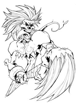 Darkstalkers BW: Lord Raptor by Peter-the-Tomato