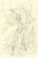 Maleficent pencils by MichaelDooney