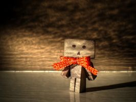 Danbo with Bow by LaughterInTheWoods