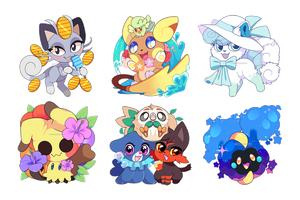 Pokemon: Summer Alola Stickers