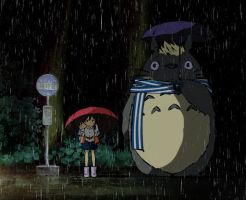[Hetalia Totoro] Under the Umbrella by xSarahMagic