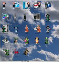 Icons: Zeroids 'n Friends by redvideo