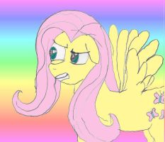 The Fluttershy stare by psycho-chic27