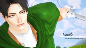 [w/download] Shingeki no Sims - Rivaille/Heichou by PrinceCaeruu