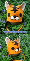 Tiger hat with ear flaps by The-Cute-Storm