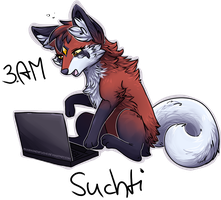 It's 3AM Suchti, go bed! by Pharaonenfuchs
