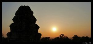 Angkor Sunset 01 by DarthIndy