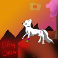 Pray for Japan by SummerTheSkitty