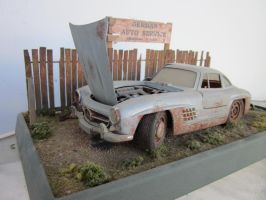Abandoned Mercedes Diorama III by tundra-timmy