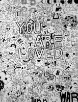 You Are Loved Super Doodle by frogs-and-pigs
