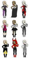 Spoopin' outfit adopts: by Supertato