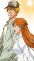 ichigo and orihime by Bleach-Fairy