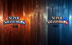 Super Smash Bros. Wii U/3DS Logo Wallpaper #3 by TheWolfBunny