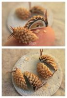 Mini-Almond Cone Innards by MrsCreosote