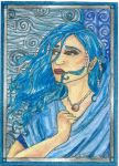 Undine ACEO by ivoryleopard