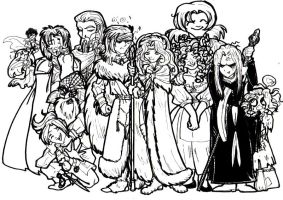 Dragonlance cast by hermitchild