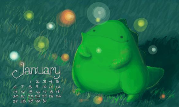 January Calendarsaur by allGunsBlazing
