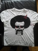 Boogie Skull-custom painted T-shirt by Sigthor-V