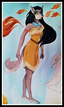 Pocahontas by FlapperFoxy
