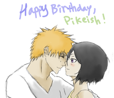 IchiRuki for Pikeish-sama +v+ by PeachBerryDivision