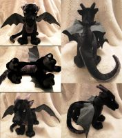 Black Dragon Plushie by Astrocat