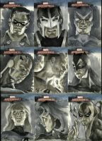 Marvel Masterpieces set 3 by gattadonna