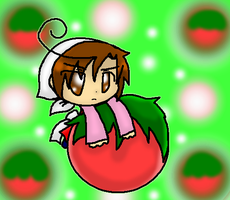 Chibi Art - ChibiRomano and Tomato by SkyWarriorKirby