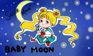 Sailor Moon Baby---Colored by XxDyRexX