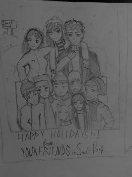 Love's Not A Competition Christmas Card by Lunar-Orchid