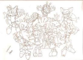 Sonic Characters Group-Drawing by Pavagat