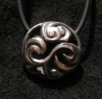 Sterling Tsunami Pendant by Sothoth
