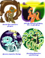My adopted Ponies Earth Types 4 by Sarahostervig