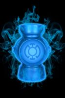Firey Blue Lantern Battery by KalEl7