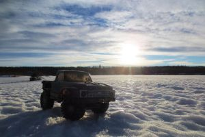 Parked On A Frozen Lake by BobTheWrench
