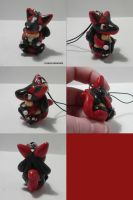 Red Lucario Charm by ChibiSilverWings