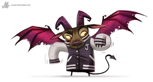 Daily Painting #850. #JerseyDevil by Cryptid-Creations