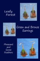 Leafy Forest Earrings by SilverGryphon8