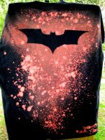Batman T-Shirt Back by XavierJonesArt