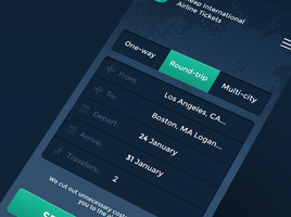 Mobile Flights Search Interface by prestigedesign