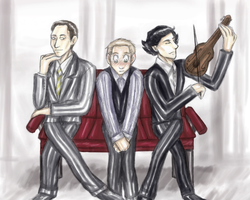 Between two Holmes by Yosh-chan